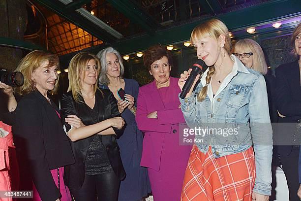 Emmanuelle de Boysson Amanda Sthers Tatiana de Rosnay Roselyne Bachelot Lola Lafon Mireille Darc and guests attend La Closerie Des Lilas Literary...