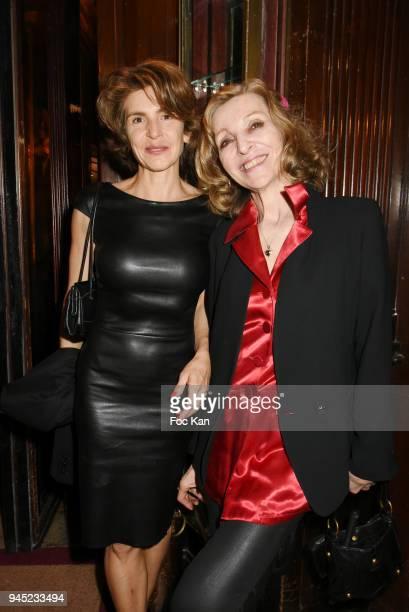 Emmanuelle De Boysson and Anne Nivat attend the 'La Closerie Des Lilas' Literary Awards 2018 At La Closerie Des Lilas on April 11 2018 in Paris France