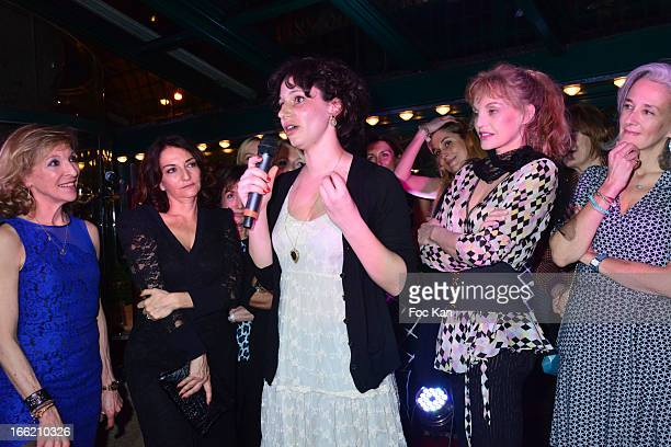 Emmanuelle de Boysson Nathalie Rykiel Lilas 2013 awarded writer Alice Zeniter Arielle Dombasle and Tatiana de Rosnay attend La Closerie Des Lilas...