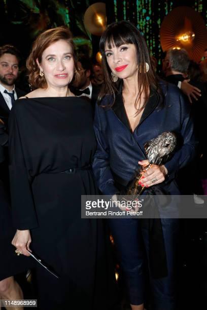 Emmanuelle Devos and Moliere for Meilleur Metteur en scene d'un spectacle de Theatre public for Le Banquet Mathilda May attend the 31eme Nuit des...