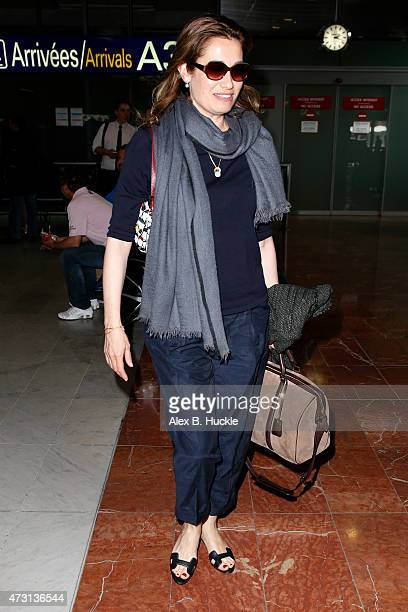 Emmanuelle Devos arrives at Nice Airport for The 68th Annual Cannes Film Festival on May 13 2015 in Nice France