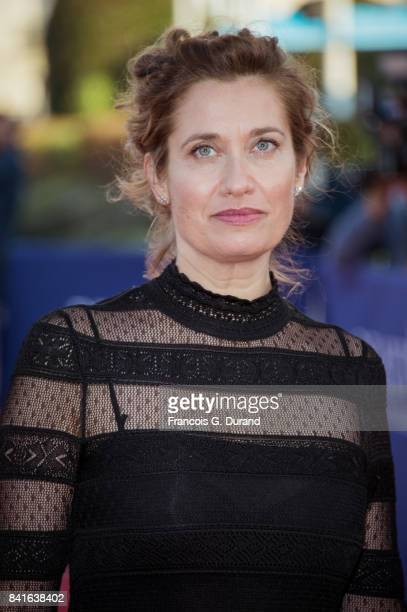 Emmanuelle Devos arrives at the opening ceremony of the 43rd Deauville American Film Festival on September 1 2017 in Deauville France