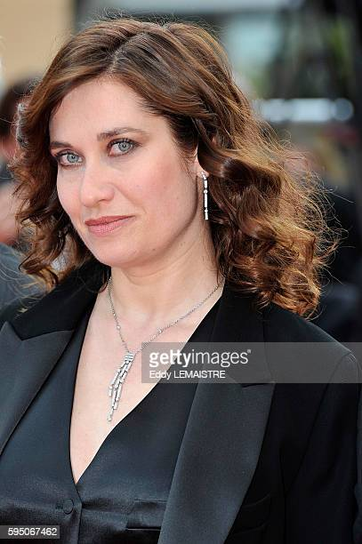 Emmanuelle Devos at the premiere of Poetry during the 63rd Cannes International Film Festival