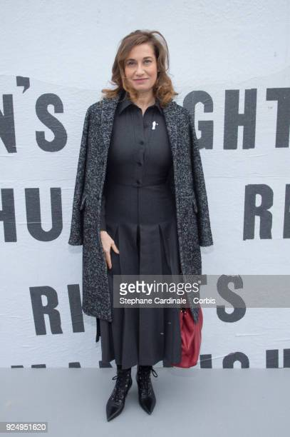 Emmanuelle Devos attends the Christian Dior show as part of the Paris Fashion Week Womenswear Fall/Winter 2018/2019 on February 27 2018 in Paris...