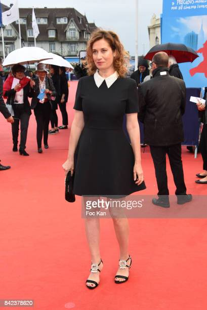 Emmanuelle Devos attends the Tribute to Jeff Goldblum and 'Kidnap' Premiere during the 43rd Deauville American Film Festival on September 3 2017 in...