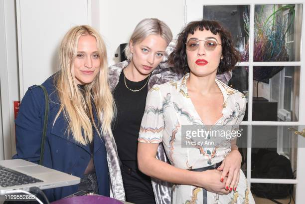 Emmanuelle Pickett Caroline Vreeland and Mia Moretti attend Oliver Peoples x Tasya van Ree Celebrates Who is Oliver Exhibition at LECLAIREUR on...