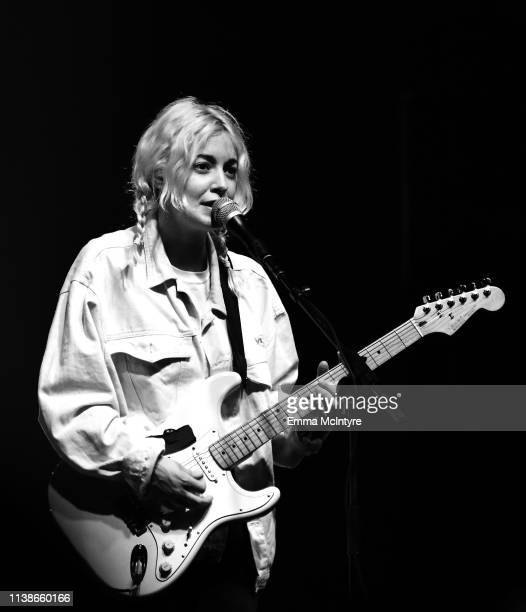 Emmanuelle Proulx of Men I Trust performs at Sonora Stage during the 2019 Coachella Valley Music And Arts Festival on April 21, 2019 in Indio,...
