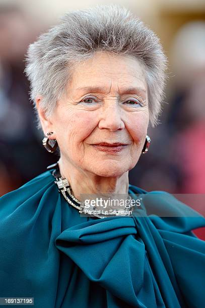Emmanuelle Riva attends the 'Blood Ties' Premiere during the 66th Annual Cannes Film Festival at the Palais des Festivals on May 20 2013 in Cannes...