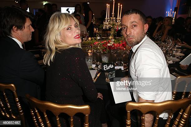 Emmanuelle Seigner and Alexandre Vauthier attend the Annual Charity Dinner Hosted By The AEM Association Children Of The World For Rwanda At Espace...