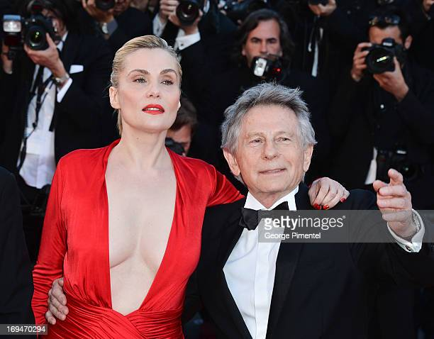 Emmanuelle Seigner and Roman Polanski attend the Premiere of 'La Venus A La Fourrure' at The 66th Annual Cannes Film Festival on May 25 2013 in...
