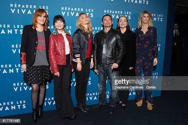Emmanuelle Seigner Anne Dorval Katell Quillevere Kool Shen Alice Taglioni and Dominique Blanc attend the 'Reparer Les Vivants' Paris Premiere on...