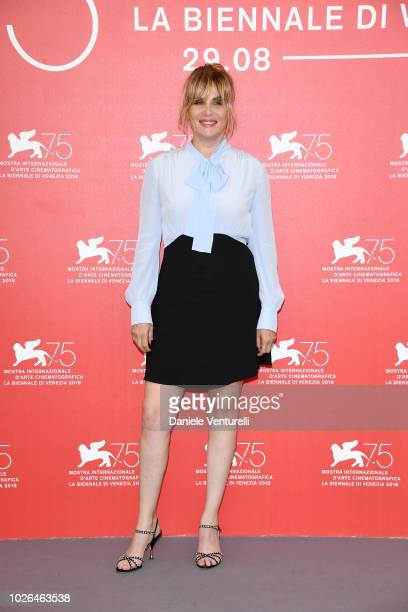 Emmanuelle Seigner attends 'At Eternity's Gate' photocall during the 75th Venice Film Festival at Sala Casino on September 3 2018 in Venice Italy