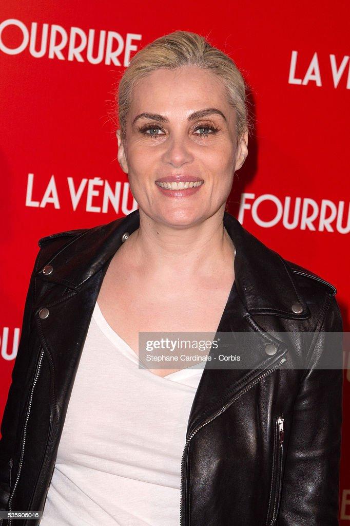 Emmanuelle Seigner attends 'La Venus A La Fourrure' (Venus In Fur) Premiere at Cinema Gaumont Marignan, in Paris.