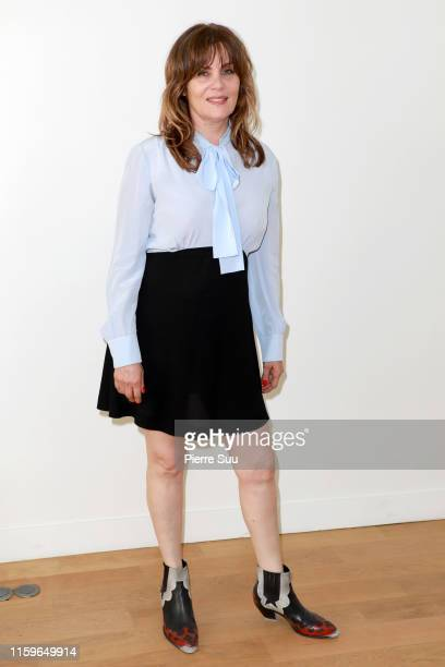 Emmanuelle Seigner attends the Alexandre Vauthier Haute Couture Fall/Winter 2019 2020 show as part of Paris Fashion Week on July 02 2019 in Paris...