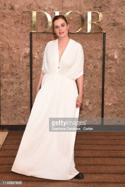 Emmanuelle Seigner attends the Christian Dior Couture S/S20 Cruise Collection on April 29 2019 in Marrakech Morocco