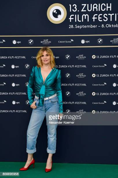 Emmanuelle Seigner attends the 'D'apres une histoire vraie' premiere at the 13th Zurich Film Festival on October 2 2017 in Zurich Switzerland The...