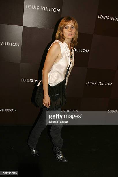 Emmanuelle Seigner attends the Louis Vuitton Store Launch the opening of the longawaited flagship fashion store which is reportedly Louis Vuitton's...