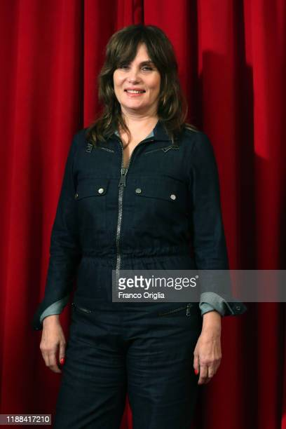 Emmanuelle Seigner attends the photocall of the movie J'Accuse on November 18 2019 in Rome Italy