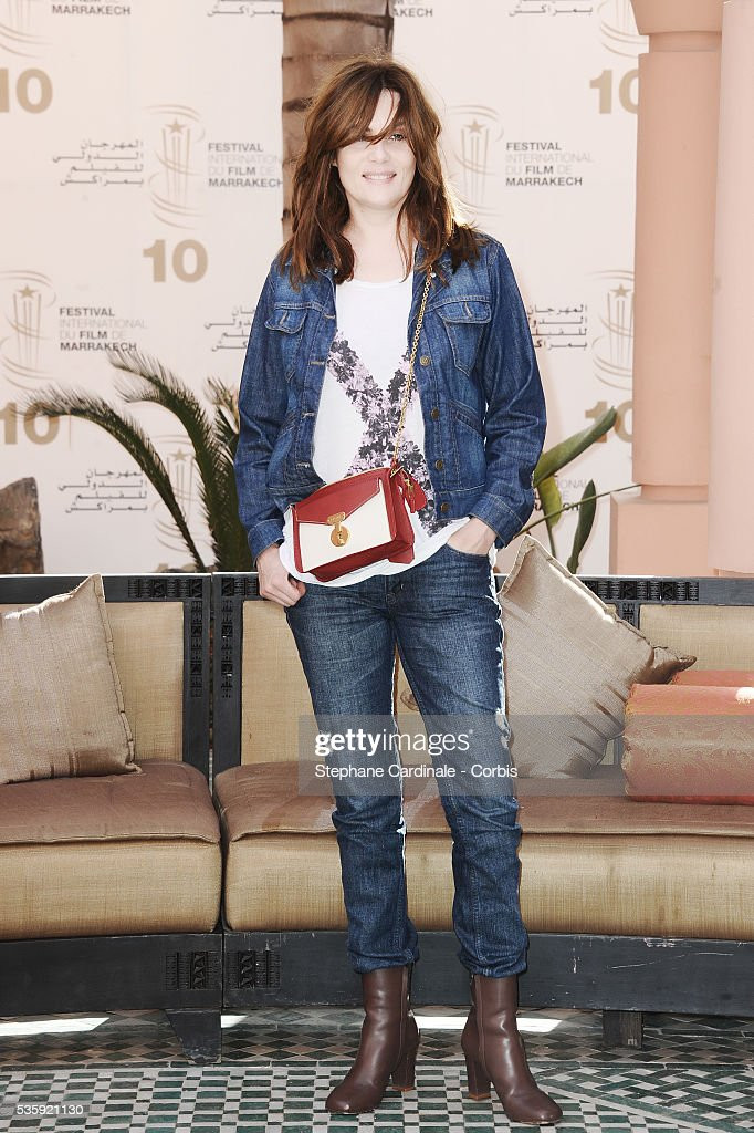 Emmanuelle Seigner attends the Photocall of the Short Film Jury, during the10th Marrakech Film Festival, in Marrakech.