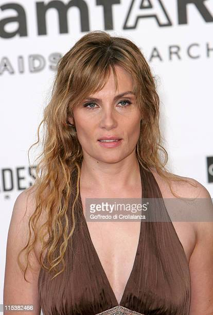 Emmanuelle Seigner during 2005 Cannes Film Festival AmFar Party Arrivals in Cannes France