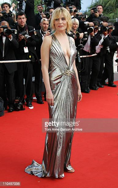 Emmanuelle Seigner during 2006 Cannes Film Festival Palme D'Or Arrivals at Palais des Festivals in Cannes France