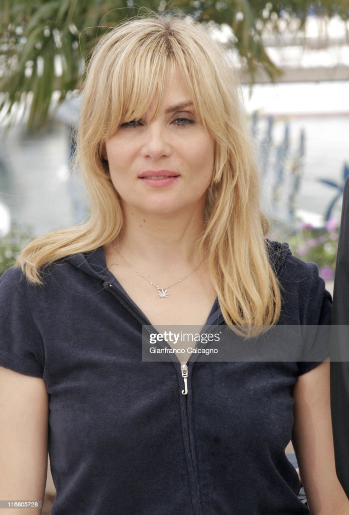 Emmanuelle Seigner during 2007 Cannes Film Festival - Le Scaphandre et le Papillon (The Diving Bell and the Butterfly) Photocall at Palais des Festivals in Cannes, France.