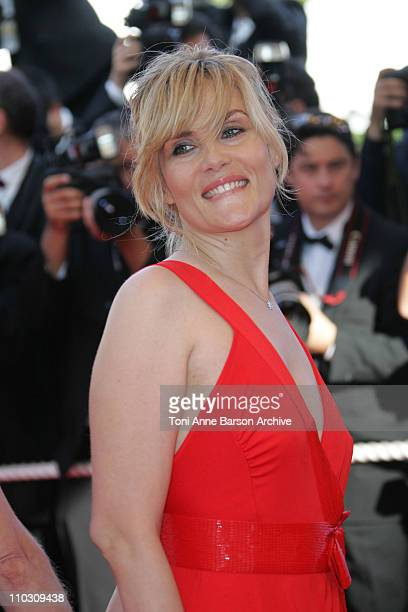 Emmanuelle Seigner during 2007 Cannes Film Festival Palme D'Or Arrivals at Palais des Festivals in Cannes France