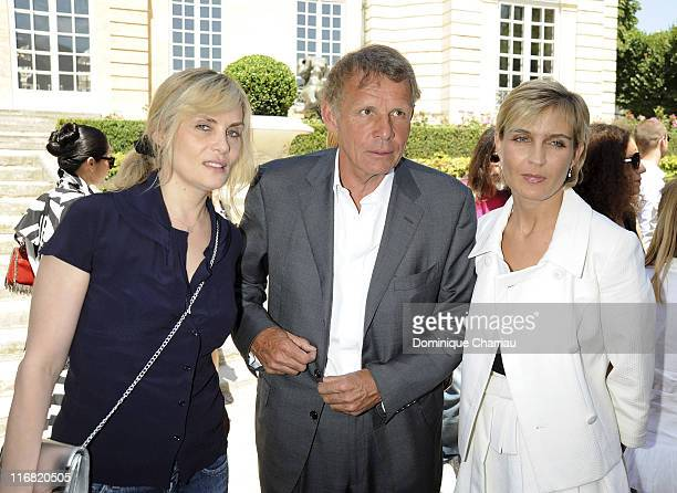 Emmanuelle Seigner French TV personality Patrick Poivre d'Arvor and Melita Toscan du Plantier attend the Dior '09 Fall Winter Haute Couture fashion...