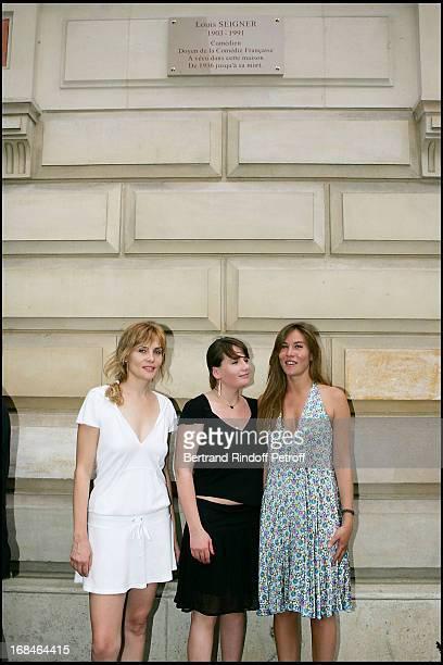 Emmanuelle Seigner Marie Amelie Seigner and Mathilde Seigner at Commemorative Plaque Tribute To Louis Seigner