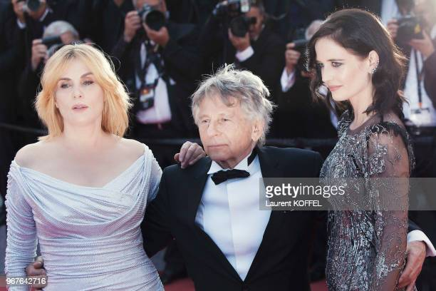 Emmanuelle Seigner Roman Polanski and Eva Green attend the 'Based On A True Story' screening during the 70th annual Cannes Film Festival at Palais...