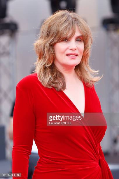 Emmanuelle Seigner walks the red carpet ahead of the closing ceremony of the 76th Venice Film Festival at Sala Grande on September 07 2019 in Venice...