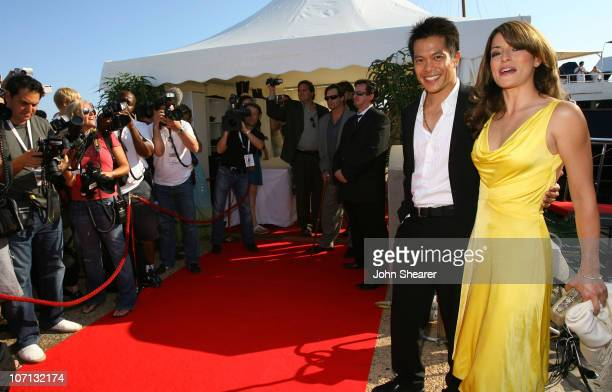 """Emmanuelle Vaugier and Guest during 2007 Cannes Film Festival - """"Blonde and Blonder"""" Party on the Budweiser Select Yacht at Budweiser Select Yacht in..."""