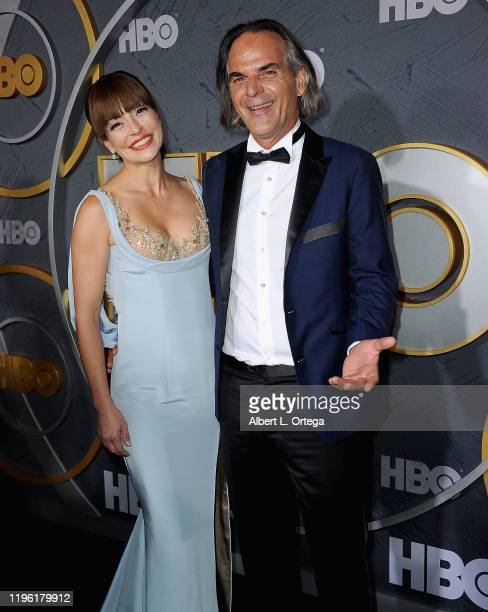 Emmanuelle Vaugier and Vince Calandra arrive for the HBO's Post Emmy Awards Reception held at The Plaza at the Pacific Design Center on September 22,...