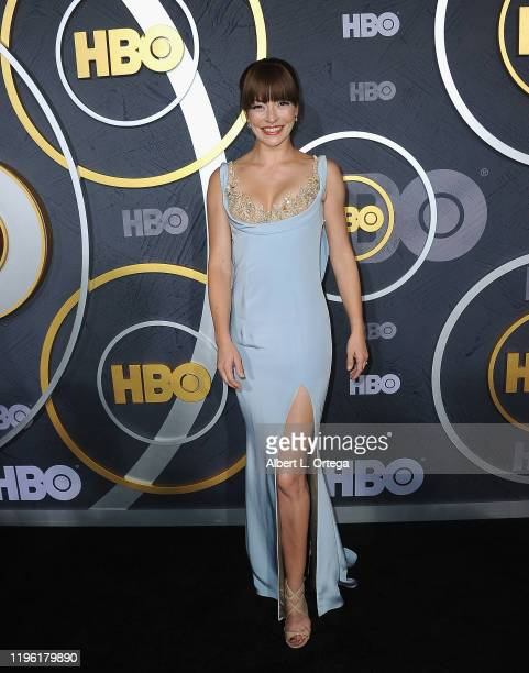 Emmanuelle Vaugier arrives for the HBO's Post Emmy Awards Reception held at The Plaza at the Pacific Design Center on September 22, 2019 in West...