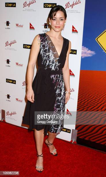 Emmanuelle Vaugier during 2nd Annual Penfolds Gala Black Tie Dinner Arrivals at Century Plaza Hotel in Century City California United States