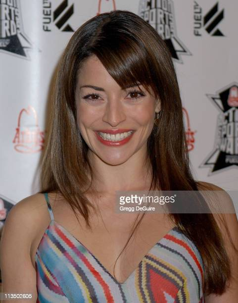 Emmanuelle Vaugier during Arby's Action Sports Awards Arrivals at Center Staging in Burbank California United States