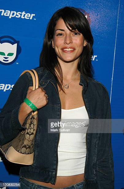 Emmanuelle Vaugier during Celebrate The Launch of Napster 20 Arrivals at House of Blues in West Hollywood California United States