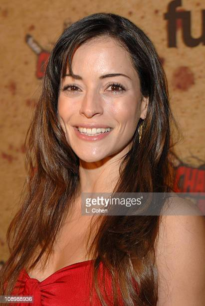Emmanuelle Vaugier during Fuse Fangoria Chainsaw Awards Black Carpet at Orpheum Theatre in Los Angeles California United States