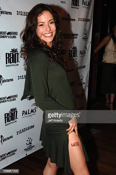 Emmanuelle Vaugier during Lions Gate Films' Saw II Las Vegas Premiere Arrivals at Rain Nightclub at Palms Casino in Las Vegas Nevada United States