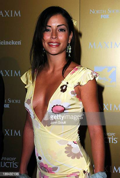 Emmanuelle Vaugier during Maxim Magazine Hot 100 Party in Celebration of the Grand Opening of Body English In the Hard Rock Hotel Casino Red Carpet...