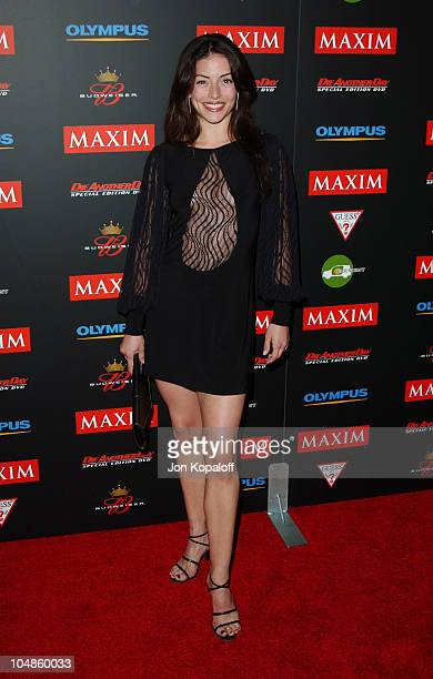 Emmanuelle Vaugier during Maxim Magazine's Annual Hot 100 Party at 1400 Ivar in Hollywood CA United States