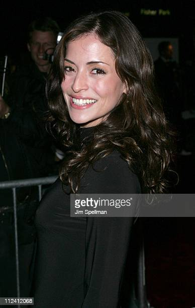 Emmanuelle Vaugier during Prime New York City Premiere Outside Arrivals at Ziegfeld Theater in New York City New York United States