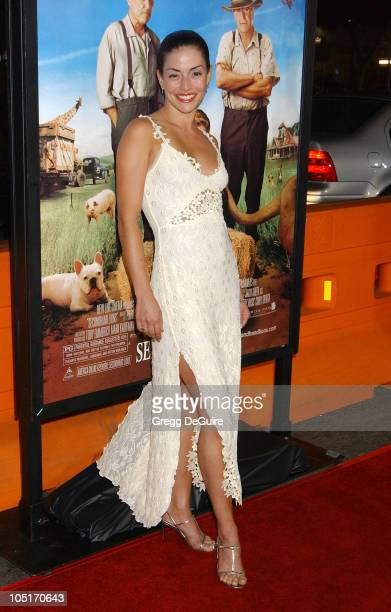 Emmanuelle Vaugier during Secondhand Lions Premiere at Mann National Theatre in Westwood California United States