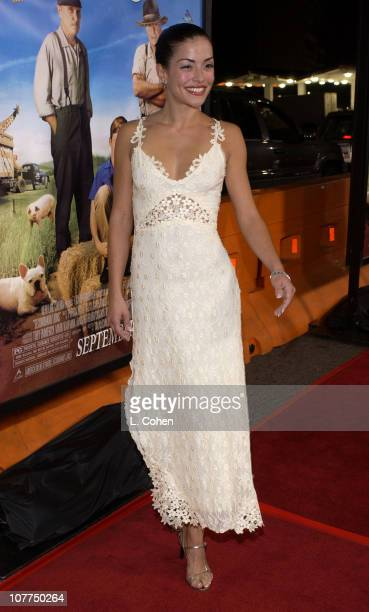 Emmanuelle Vaugier during Secondhand Lions Premiere Red Carpet at Mann National Theatre in Westwood California United States