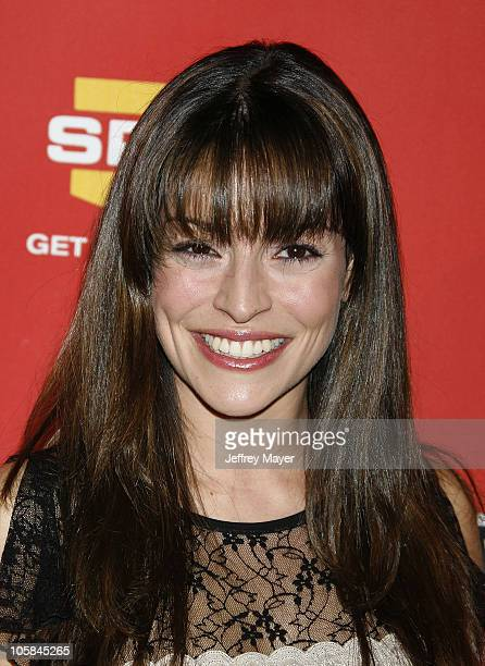 Emmanuelle Vaugier during Spike TV's 2006 Video Game Awards Arrivals at The Galen Center in Los Angeles California United States