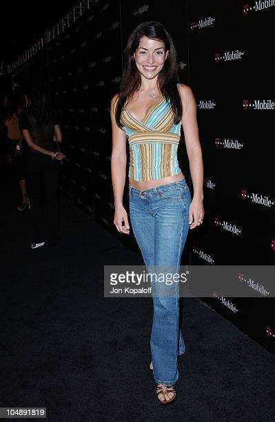 Emmanuelle Vaugier during TMobile Action Sports Team Hosts ActionPacked Arrivals at ArcLight Cinema Rooftop in Hollywood California United States