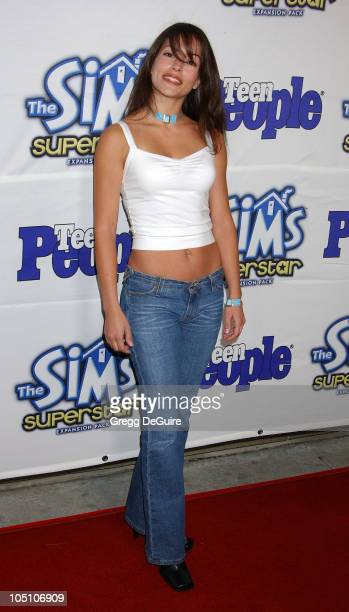 Emmanuelle Vaugier of Smallville during Teen People Celebrates The 6th Annual 25 Hottest Stars Under 25 at Lucky Strike Lanes in Hollywood California...