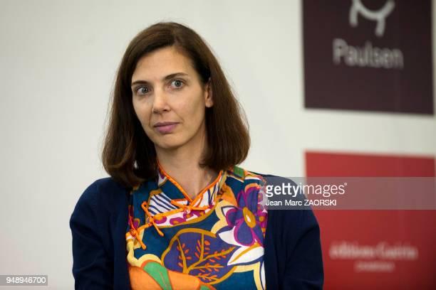 Emmanuelle Werner Gillioz ecrivain suisse au Salon du Livre et de la Presse à Genève en Suisse le 1er mai 2015