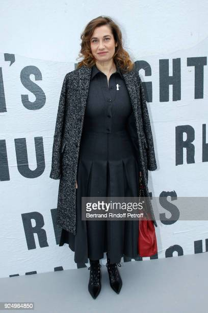 Emmanuellle Devos attends the Christian Dior show as part of the Paris Fashion Week Womenswear Fall/Winter 2018/2019 on February 27 2018 in Paris...