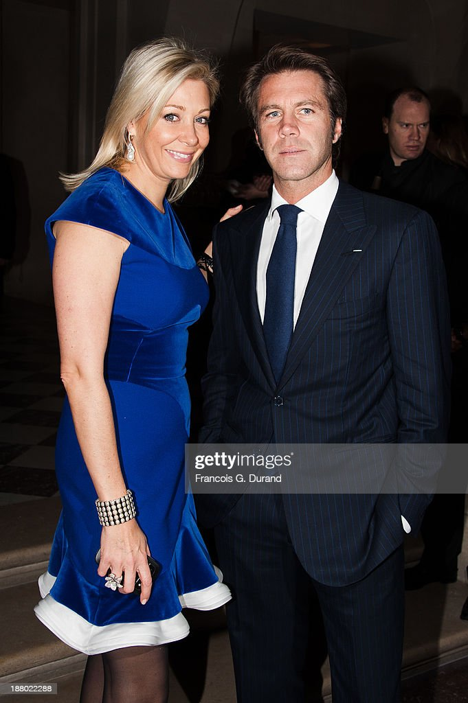 Emmanuel-Philibert de Savoie and Nadja Swarovski attend the Swarovski Dinner In Honor of the Bouroullec Brothers at Chateau de Versailles on November 14, 2013 in Versailles, France.